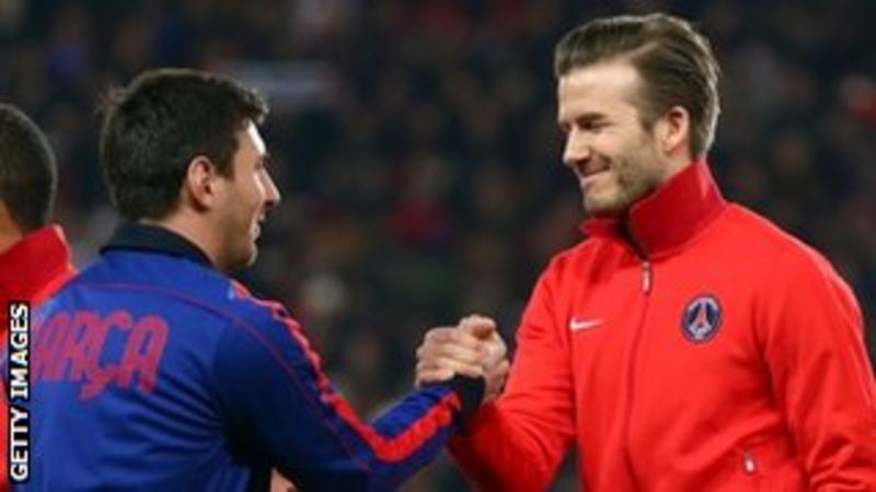 David Beckham revels in European return with PSG