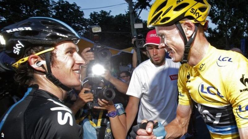 Tour de France 2013: Geraint Thomas on celebrating in Paris