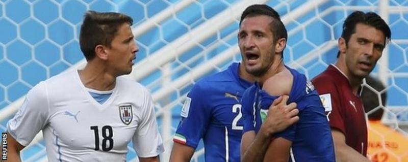 Luis Suarez 'bite': Uruguay striker in World Cup controversy