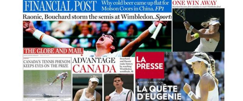 Wimbledon 2014: Canada in thrall to Eugenie Bouchard & Raonic