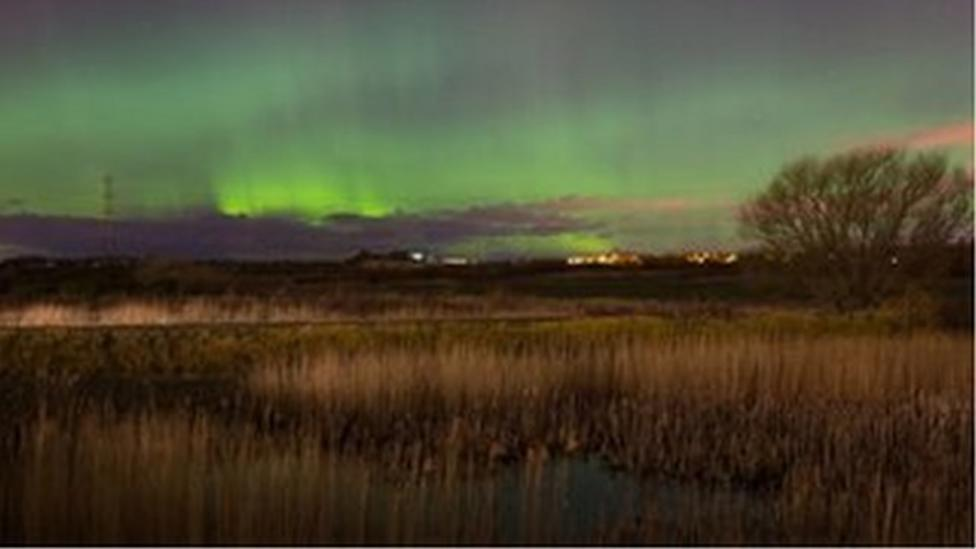 Northern Lights appear over parts of the UK