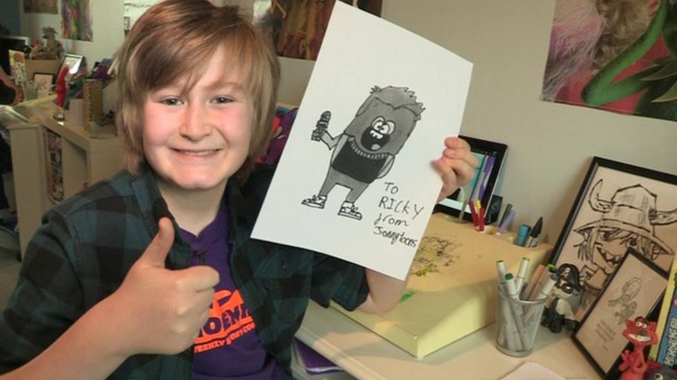Jonny Toons draws Ricky