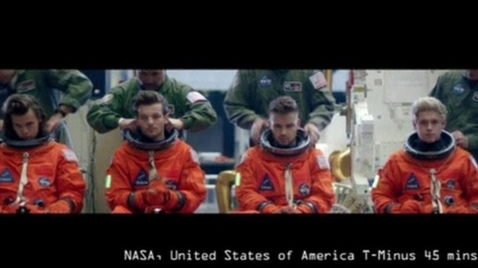 1D over the moon with new video