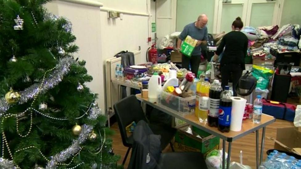 Inside a flood rescue centre