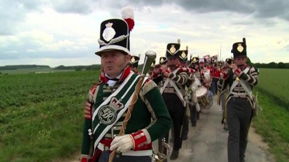 Thousands re-enact Battle of Waterloo