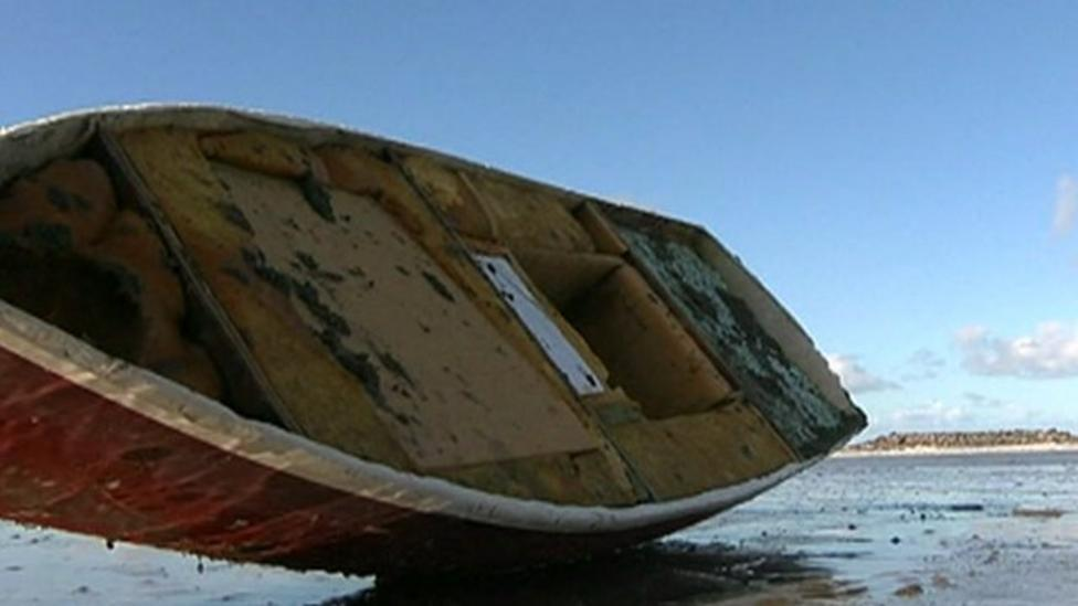Family finds boat from American school