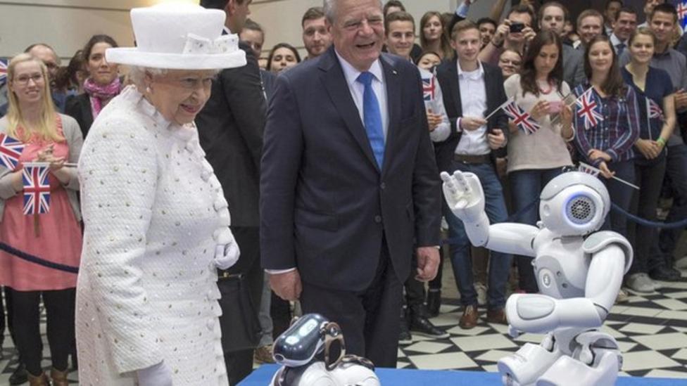 Queen meets a friendly robot