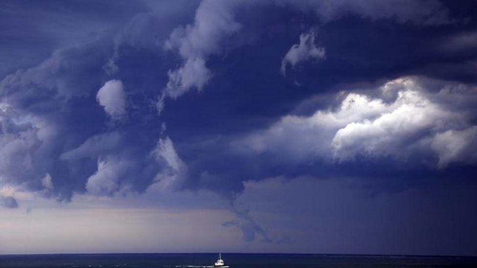 Crazy storm clouds over Australia