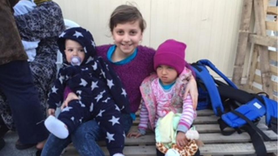 Half-term helping in a refugee camp