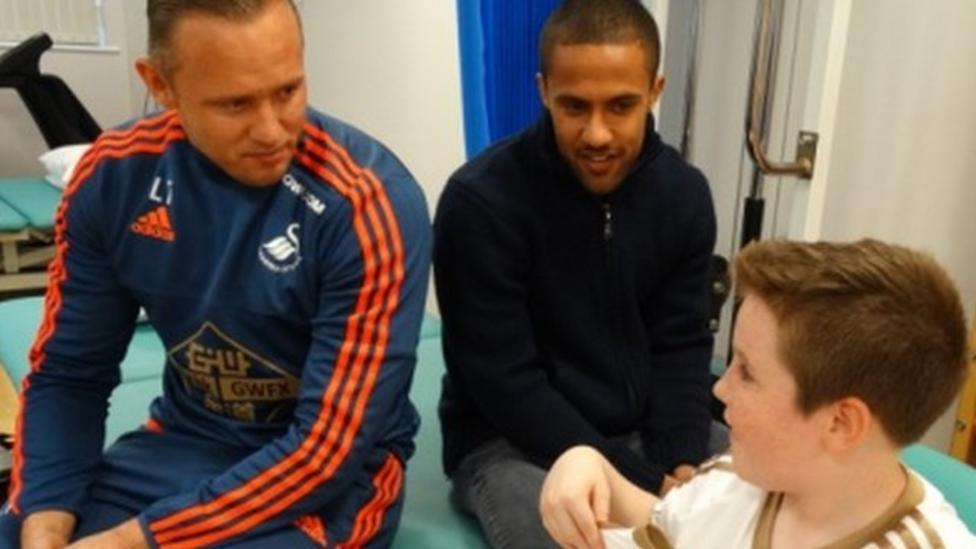 Swans stars surprise 11 year old fan