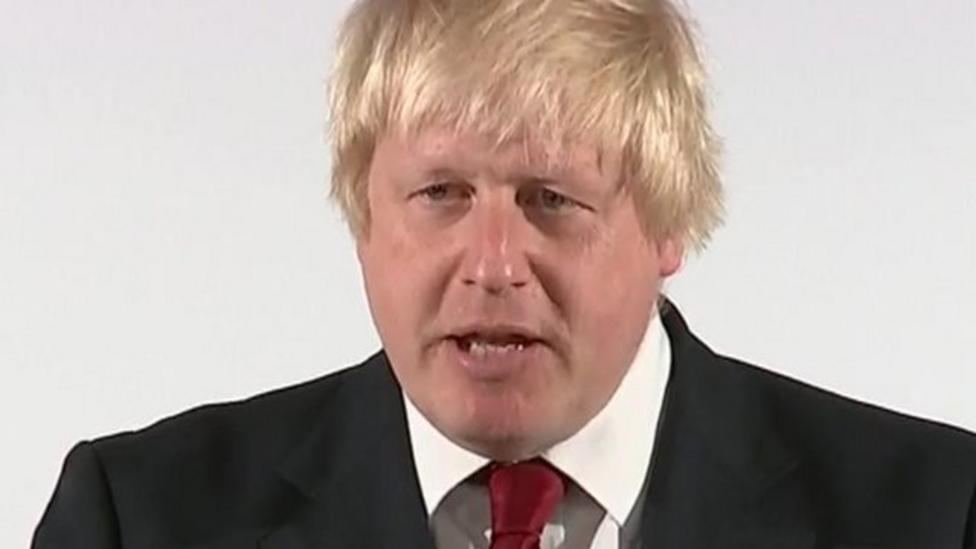 Boris calls leaving the EU a 'glorious opportunity'