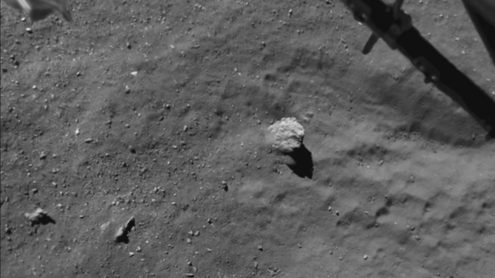 'Film' of comet landing released