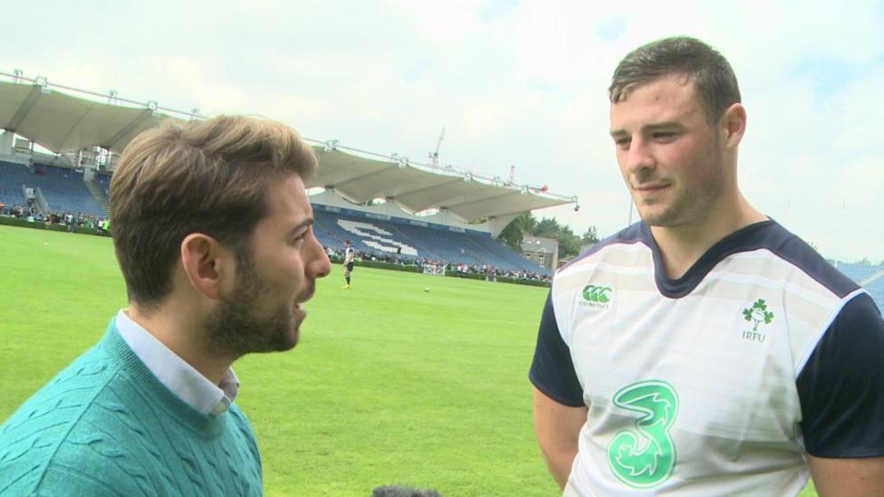 Ricky meets Ireland rugby stars