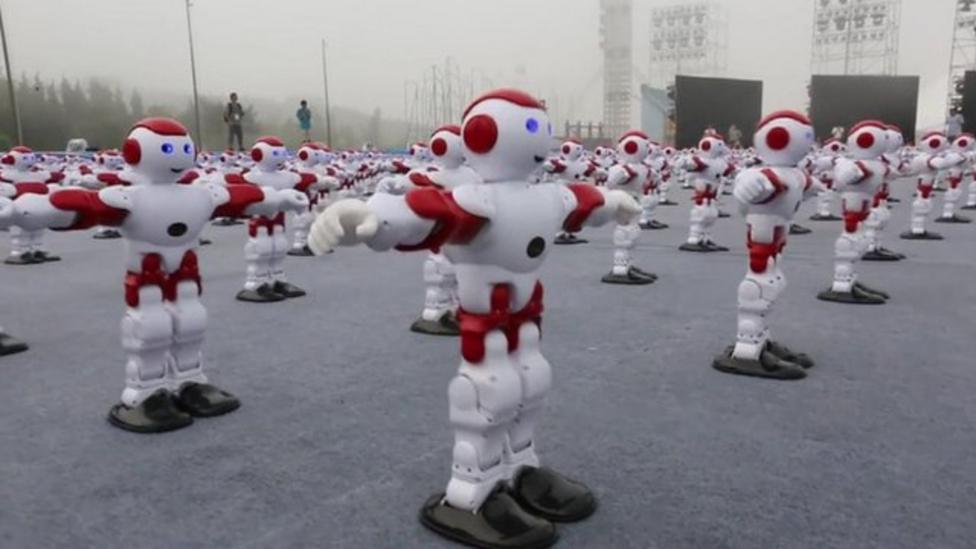 Dancing robots set world record