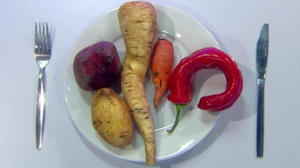 Perfect veg v wonky veg