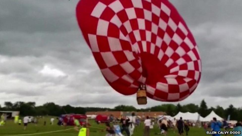 Balloon show nearly gets blown away