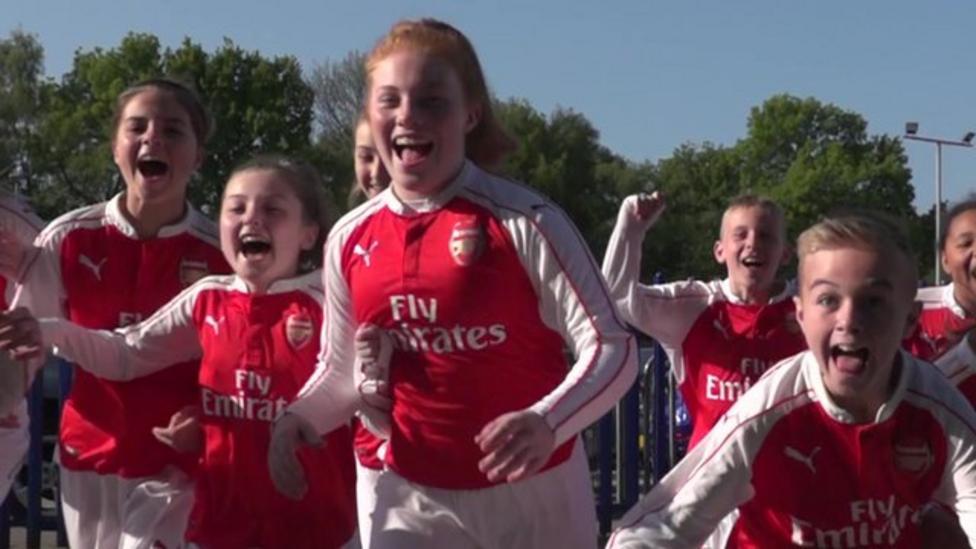 Kids take part in Premier League