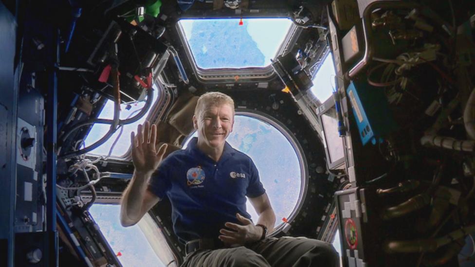 Tim Peake reads bedtime story in space