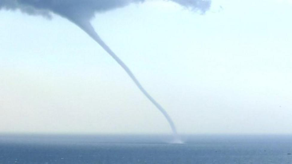 Huge waterspouts in China