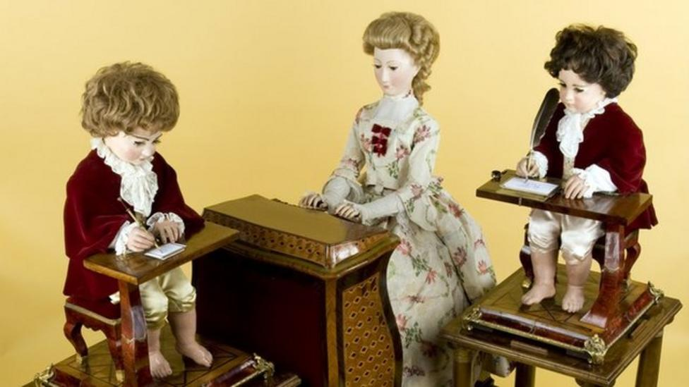 Writing, drawing, 240-year-old robots