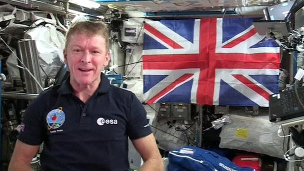 Tim Peake's message to the Queen