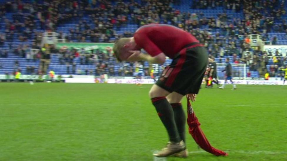 West Brom player hit by a coin