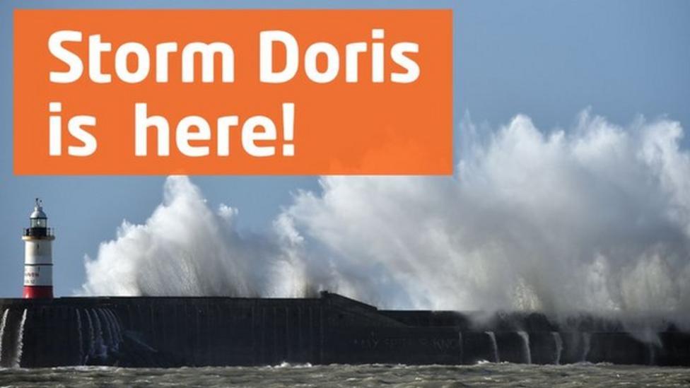 Storm Doris: weather forecast