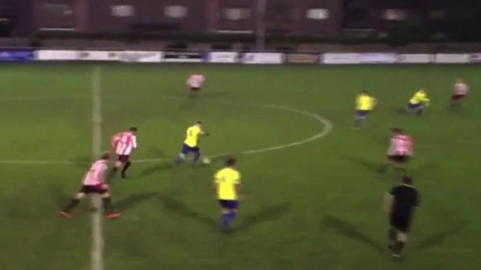 Berkhamsted Player Scores Wonder Goal In Fa Vase Bbc Sport