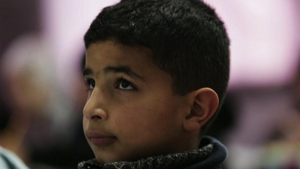 School kids attend Syria talks