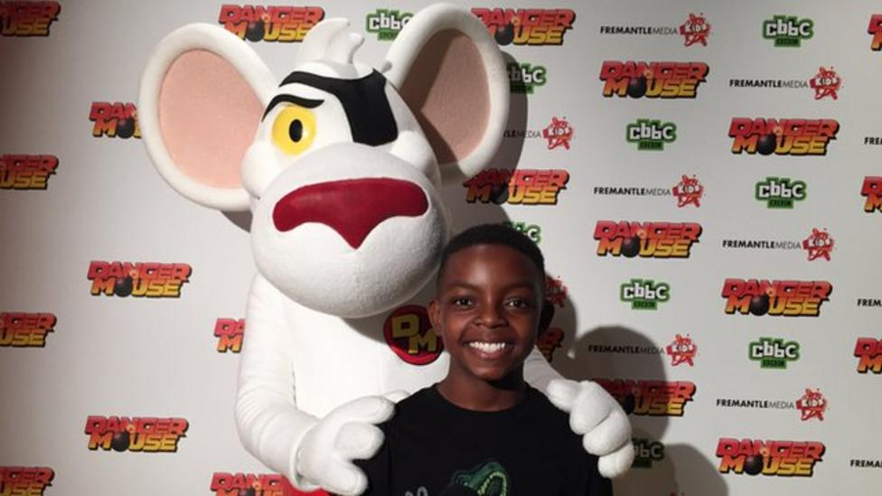 Newsround at the Danger Mouse premiere