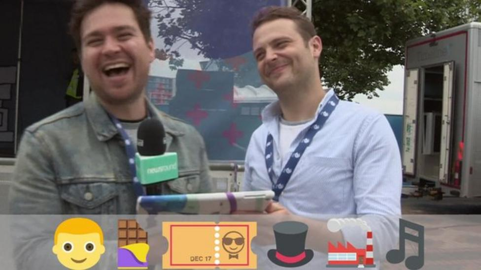 Celebs take on emoji story challenge
