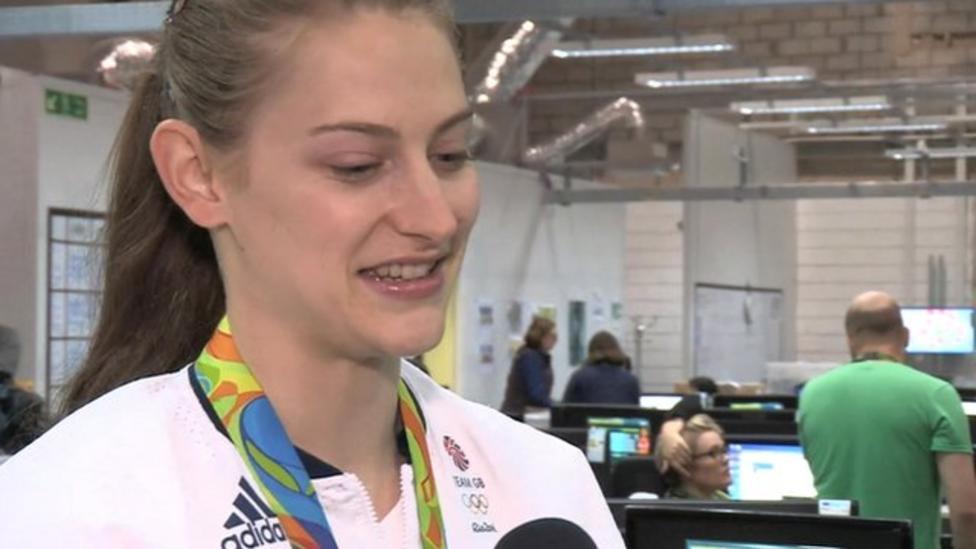 GB's first female trampoline medallist