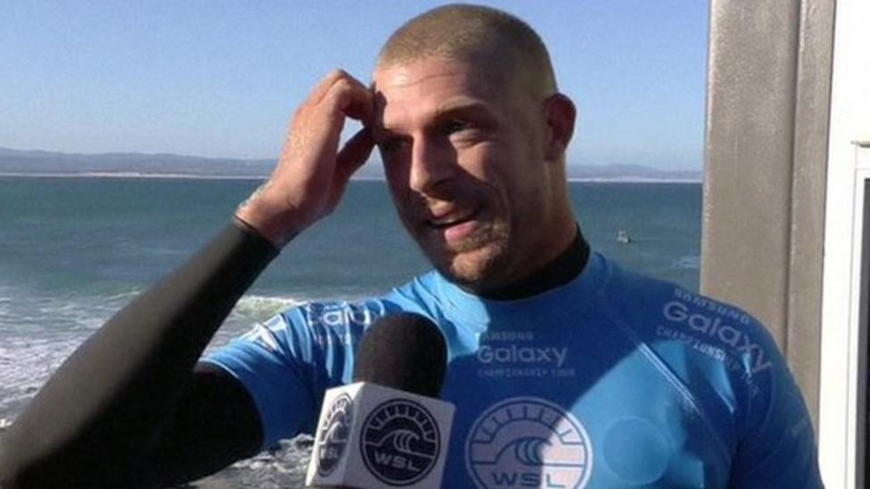 Surfer's lucky escape from shark