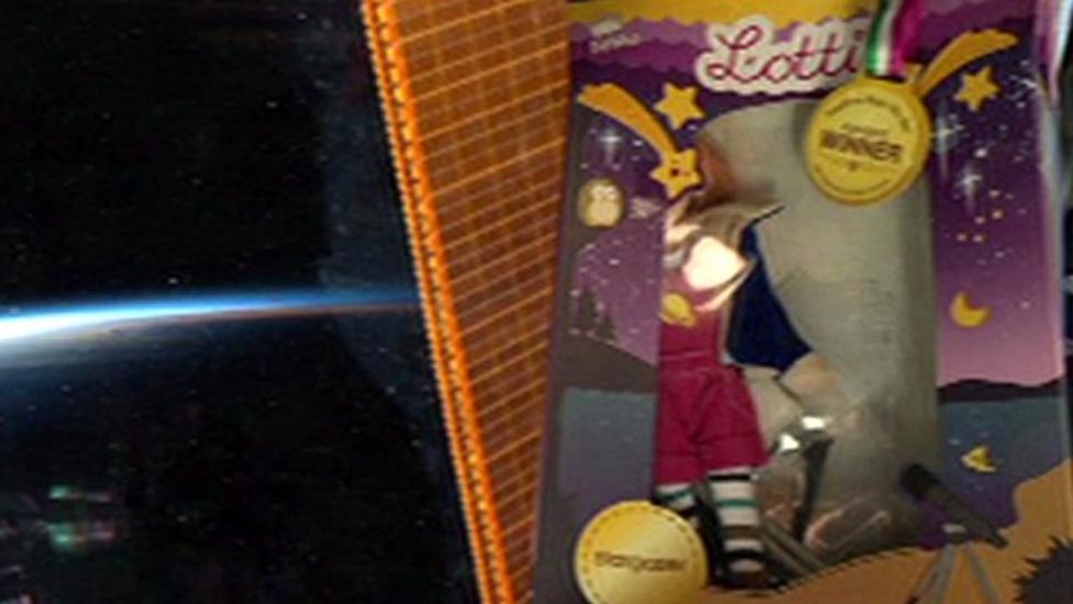 Tim Peake takes doll into space
