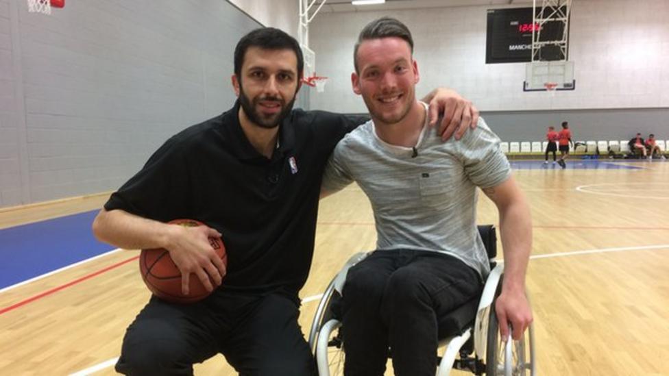 Martin vs Radmanovic basketball challenge