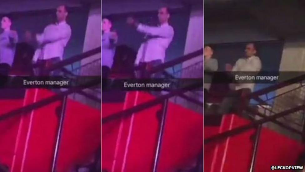Everton boss caught dad-dancing