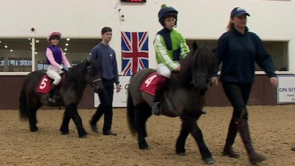 Kids prepare for Shetland Pony Grand National