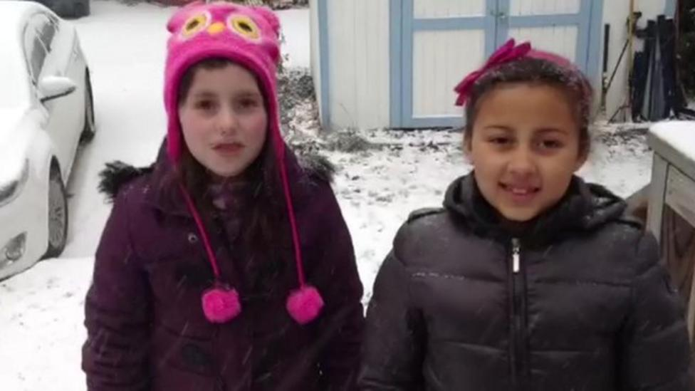 US kids tell us about the snow storm