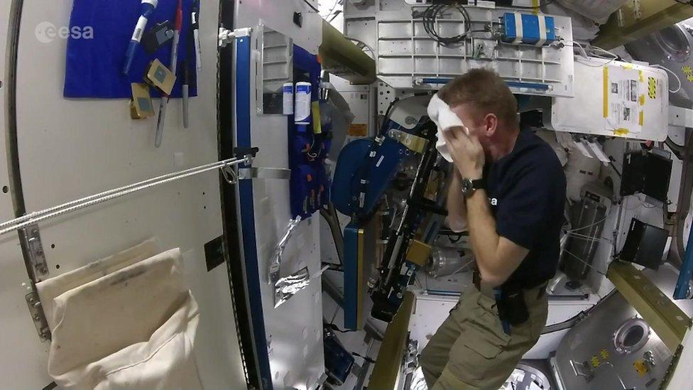 How do you wash in space?