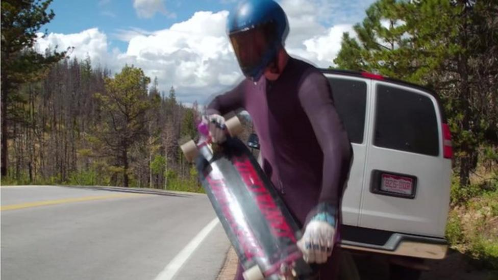 The fastest skateboarder ever!