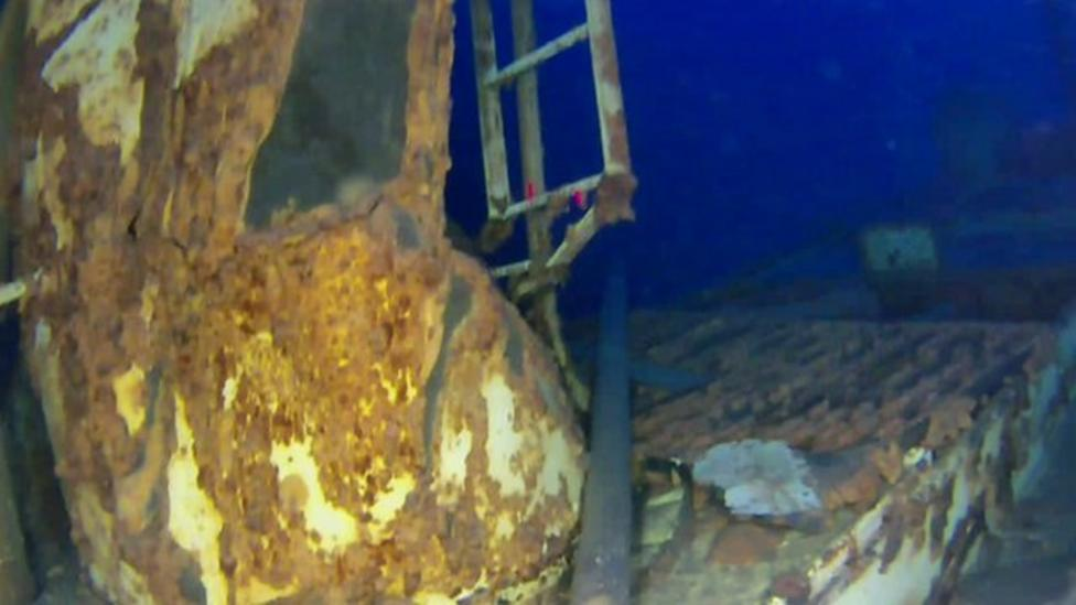 Ship revealed using underwater drone