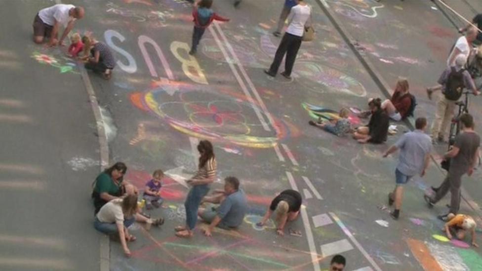 Street art sets new world record