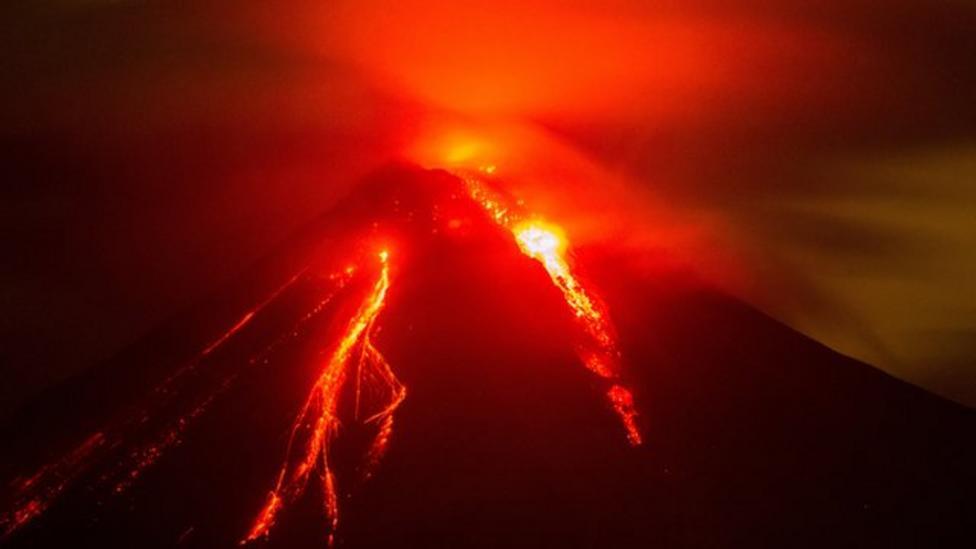 Evacuations follow Volcano eruptions