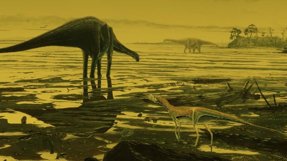 Dinosaur footprints found in Scotland