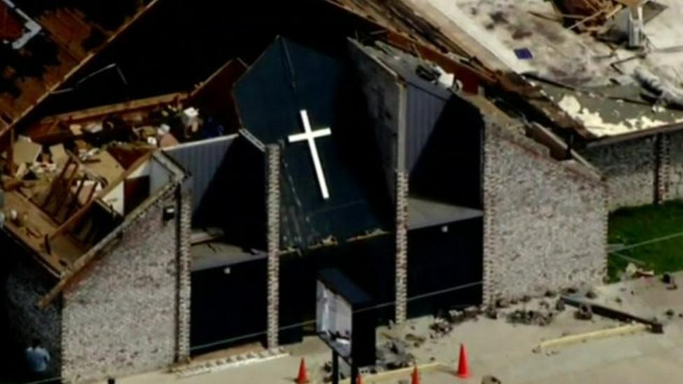 Aerial footage shows US tornado damage