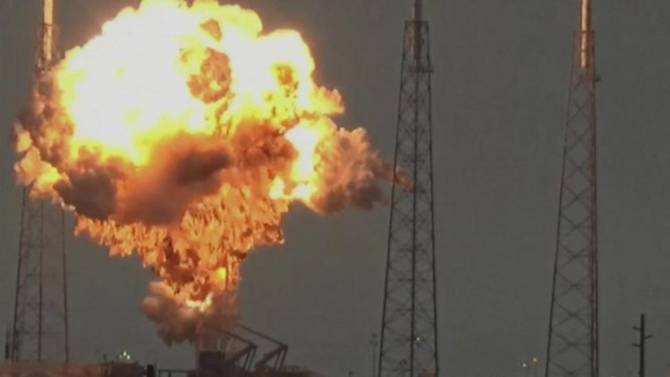 The moment SpaceX rocket exploded