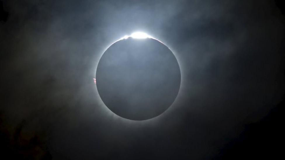 Time lapse of total eclipse in Indonesia