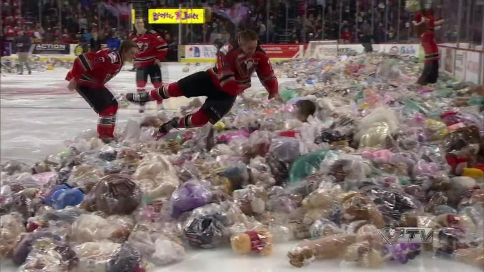 Annual Teddy Bear toss for charity