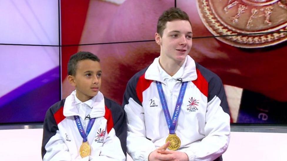 Team GB's daring duo win gymnastic gold
