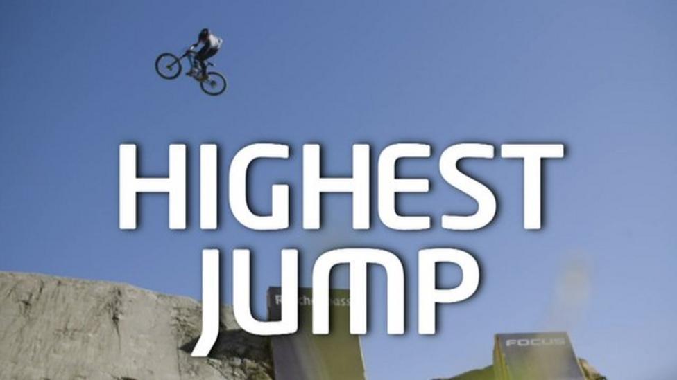 World's highest quarter pipe bike jump